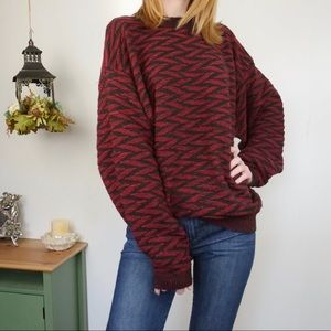 Oversized Fall Sweater Baggy Textured Thick Knit